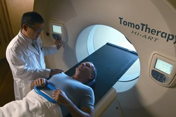 TomoTherapy treats hard-to-reach tumors near healthy tissues and organs.
