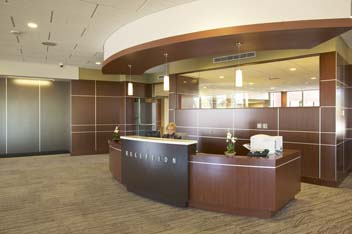First floor reception area can answer questions or guide you to your appointment.