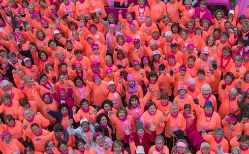 Breast cancer survivors at the 2018 race